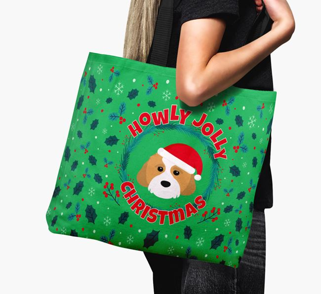 'Howly Jolly' - Personalised Cavachon Canvas Bag
