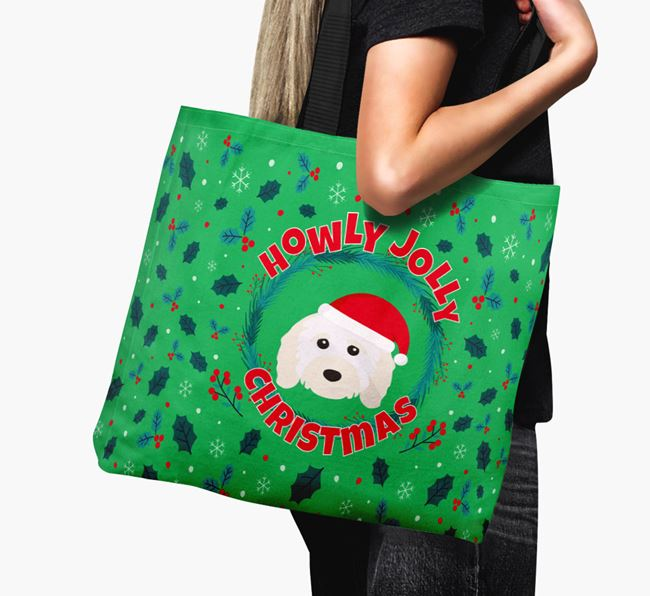 'Howly Jolly' - Personalised Cavapoo Canvas Bag