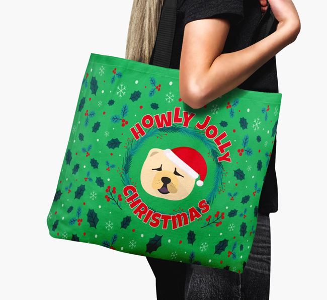 'Howly Jolly' - Personalised Chow Chow Canvas Bag