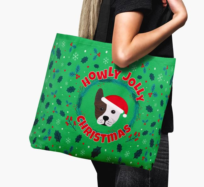 'Howly Jolly' - Personalised Frenchie Staff Canvas Bag