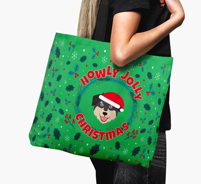 'Howly Jolly' - Personalised Goberian Canvas Bag
