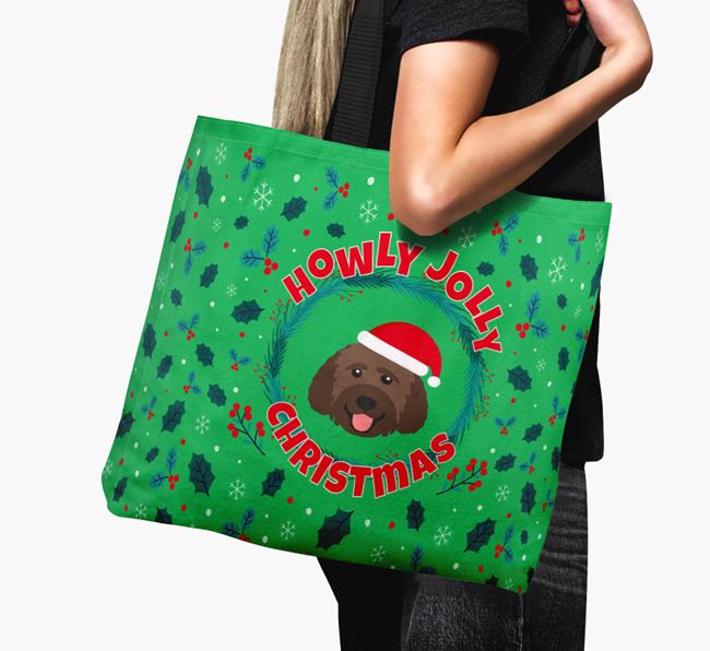 'Howly Jolly' - Personalised Goldendoodle Canvas Bag