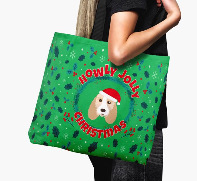 'Howly Jolly' - Personalised Grand Basset Griffon Vendeen Canvas Bag