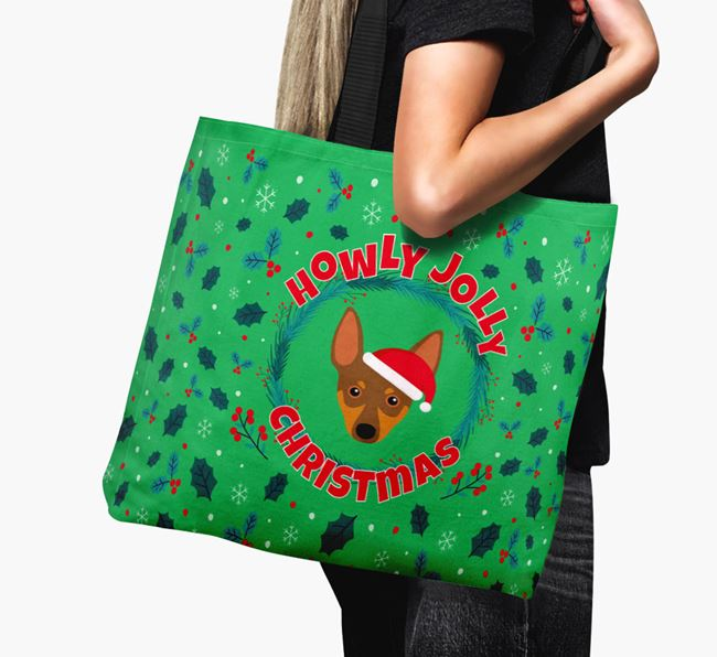 'Howly Jolly' - Personalised Miniature Pinscher Canvas Bag