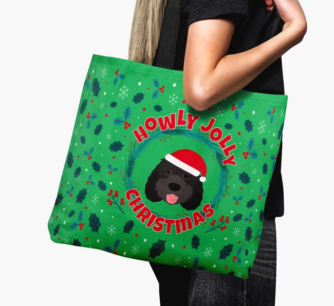'Howly Jolly' - Personalised Otterhound Canvas Bag