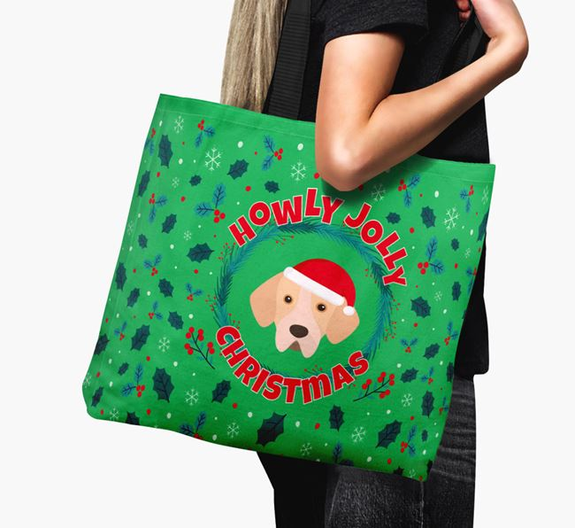'Howly Jolly' - Personalised Portuguese Pointer Canvas Bag