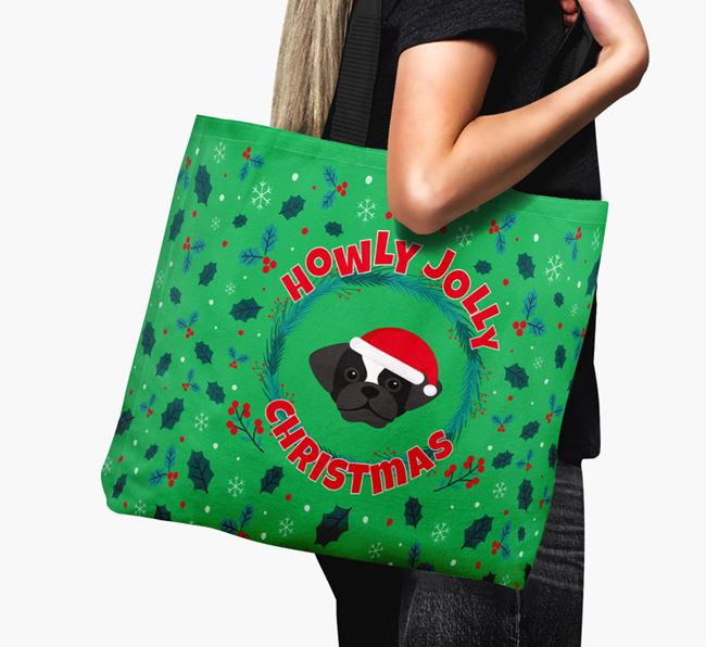 'Howly Jolly' - Personalised Puggle Canvas Bag