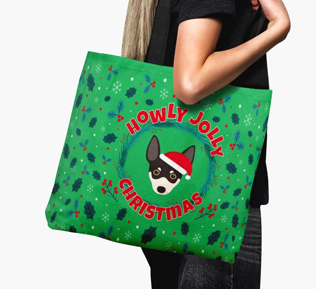 'Howly Jolly' - Personalised Rat Terrier Canvas Bag