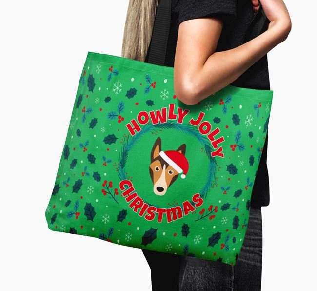 'Howly Jolly' - Personalised Smooth Collie Canvas Bag