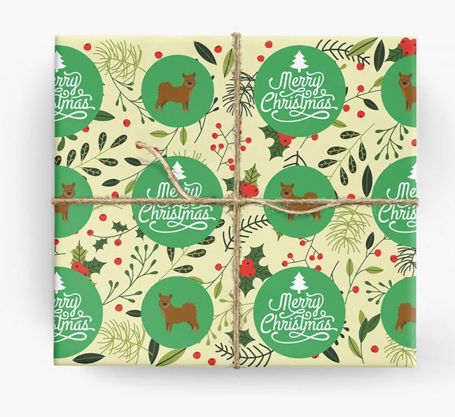 'Merry Christmas' - Personalised Chihuahua Wrapping Paper