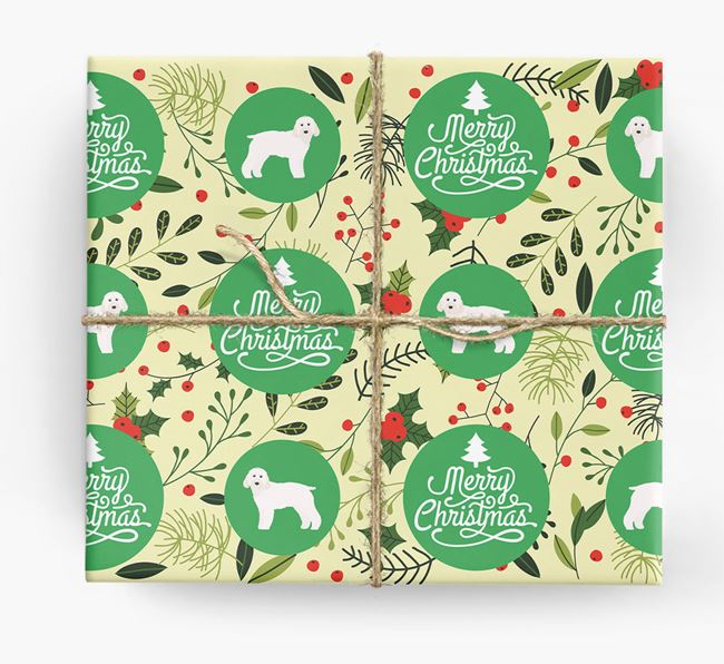 'Merry Christmas' - Personalised Cockapoo Wrapping Paper