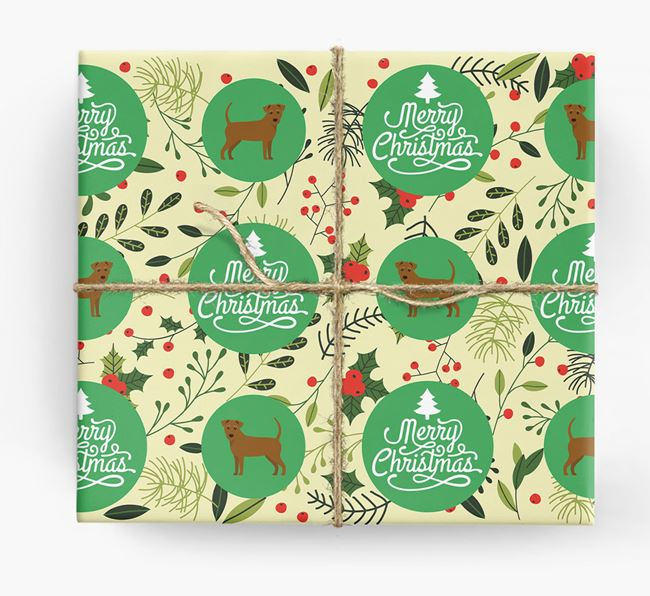 'Merry Christmas' - Personalized Jack-A-Poo Wrapping Paper