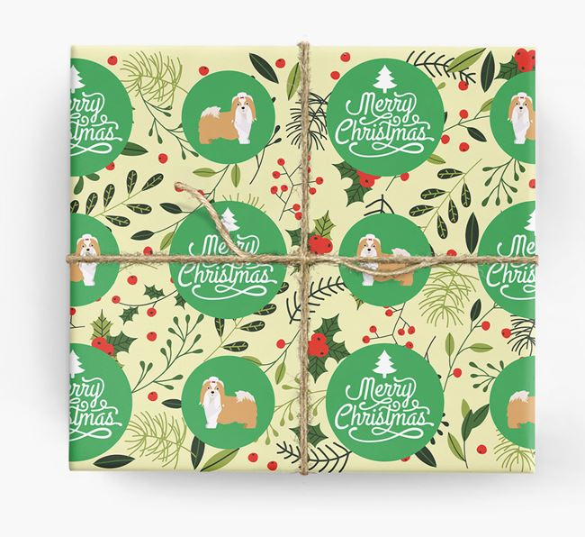 'Merry Christmas' - Personalised Shih Tzu Wrapping Paper