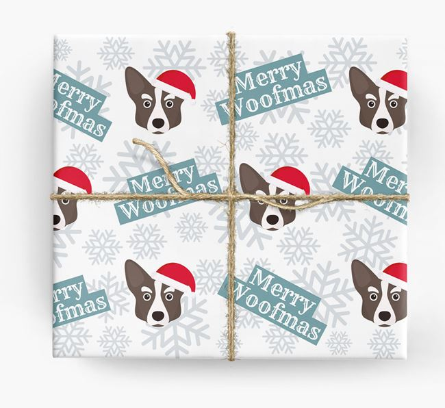 'Merry Woofmas' - Personalised Corgi Wrapping Paper