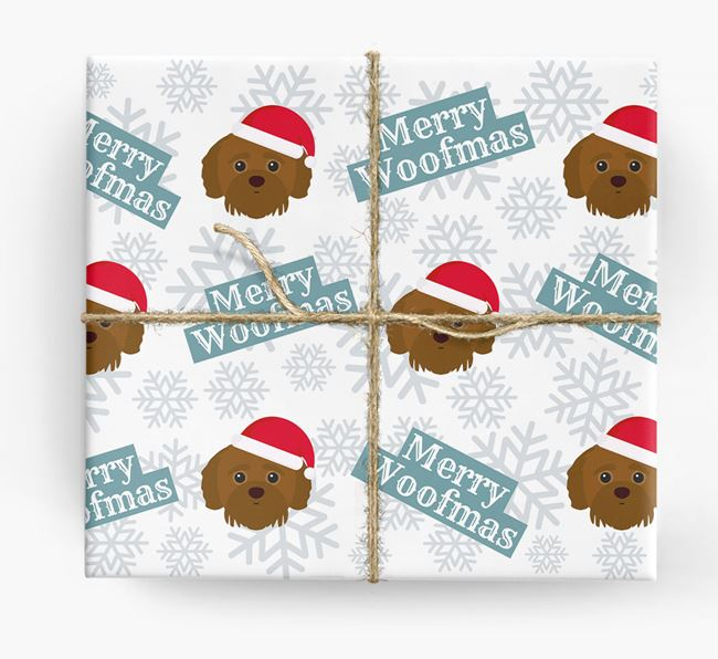'Merry Woofmas' - Personalized Jack-A-Poo Wrapping Paper