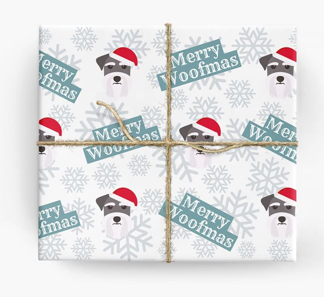 'Merry Woofmas' - Personalised Dog Wrapping Paper