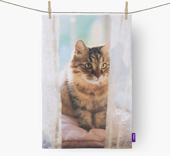 Photo Upload Tea Towel - Personalised for your Cat