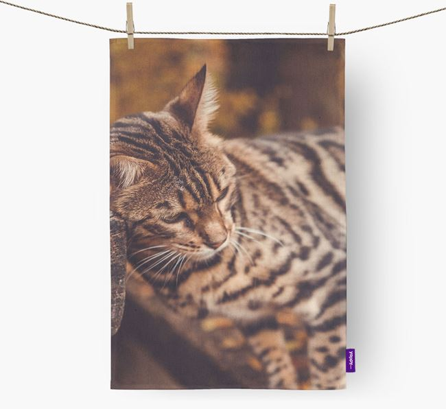 Photo Upload Tea Towel - Personalised for your Bengal