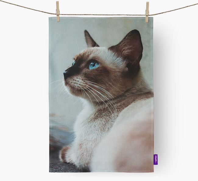 Photo Upload Dish Towel - Personalized for your Siamese