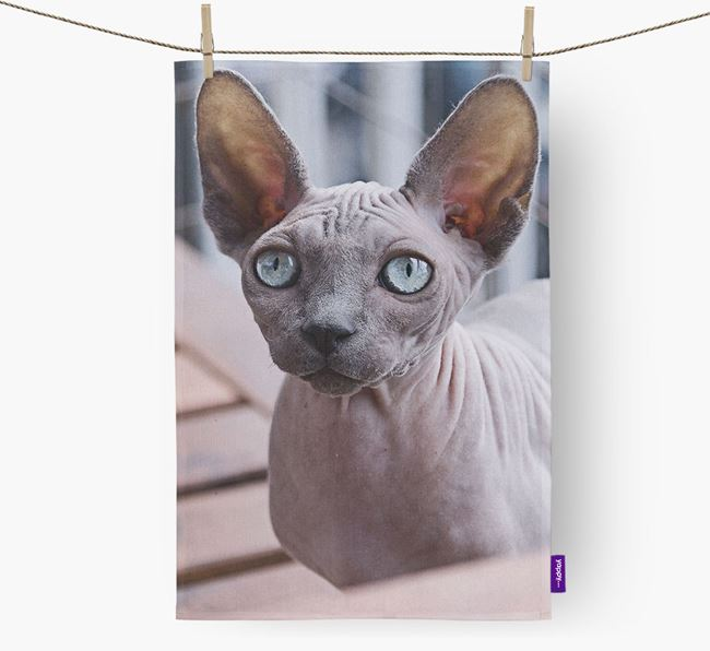Photo Upload Dish Towel - Personalized for your Cat