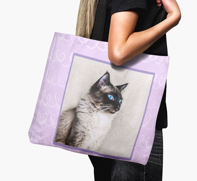 'Scribbles' - Balinese Photo Upload Canvas Bag