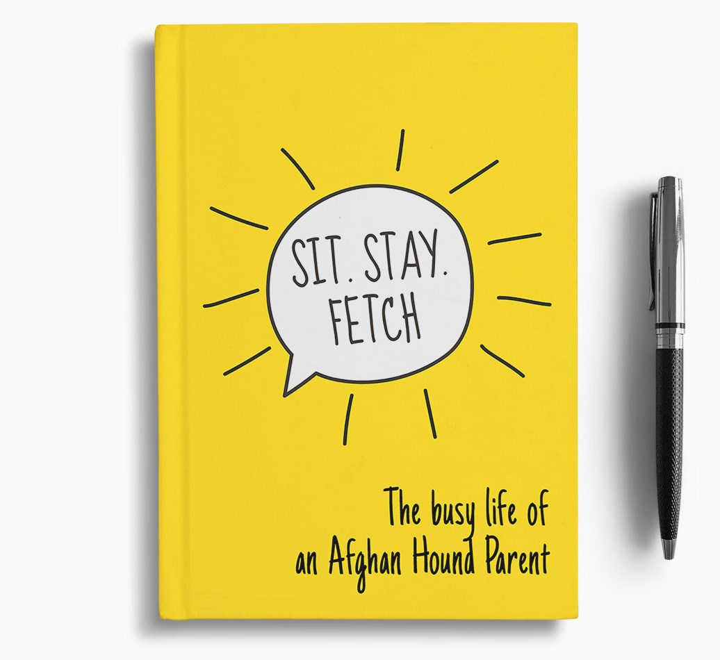 Notebook for Afghan Hounds