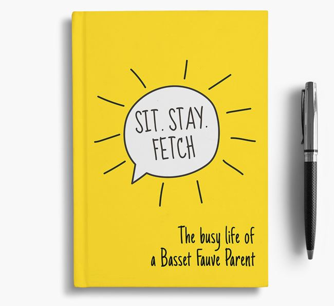 'The busy life of a Basset Fauve Parent' Personalised Notebook