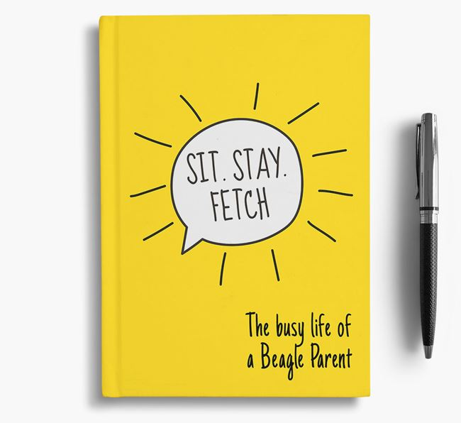 'The busy life of a Beagle Parent' Personalised Notebook