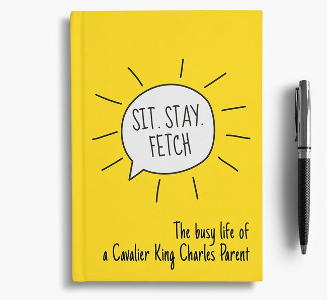 'The busy life of a Cavalier King Charles Parent' Personalized Notebook