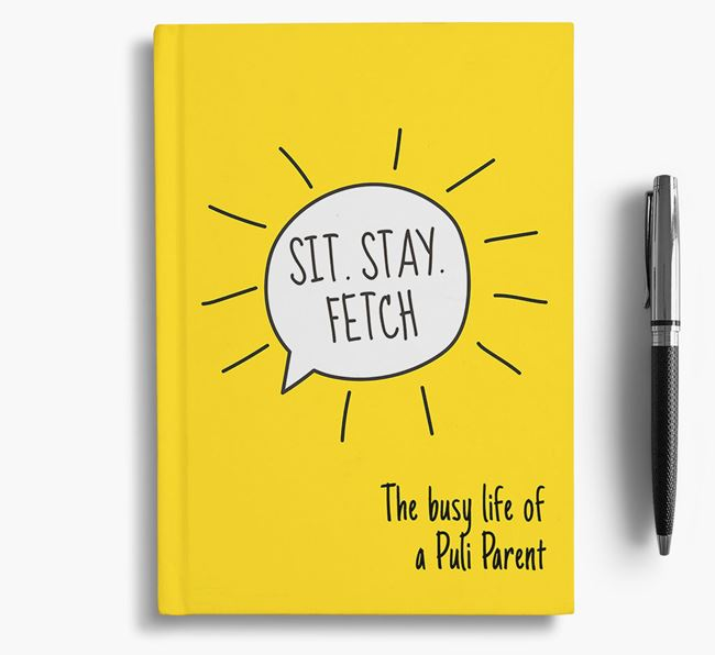 'The Busy Life of a...' Personalized Hungarian Puli Notebook
