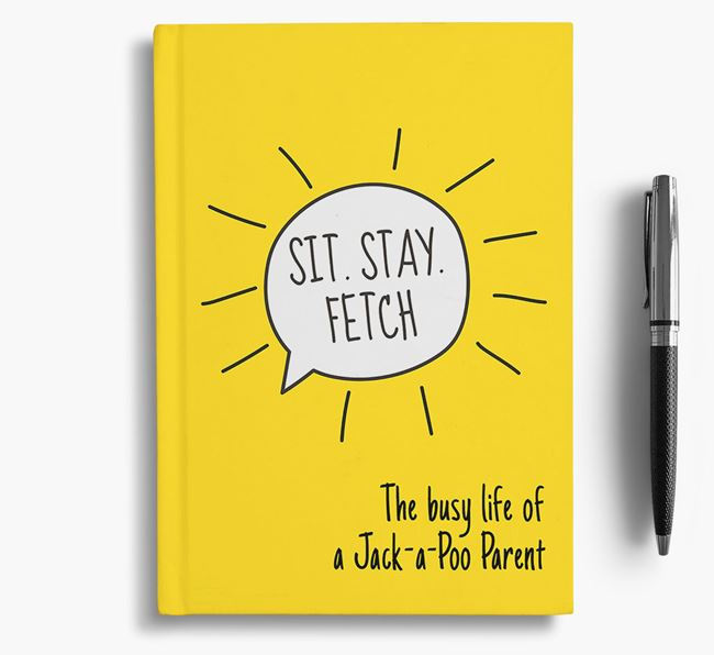 'The busy life of a Jack-a-Poo Parent' Personalised Notebook