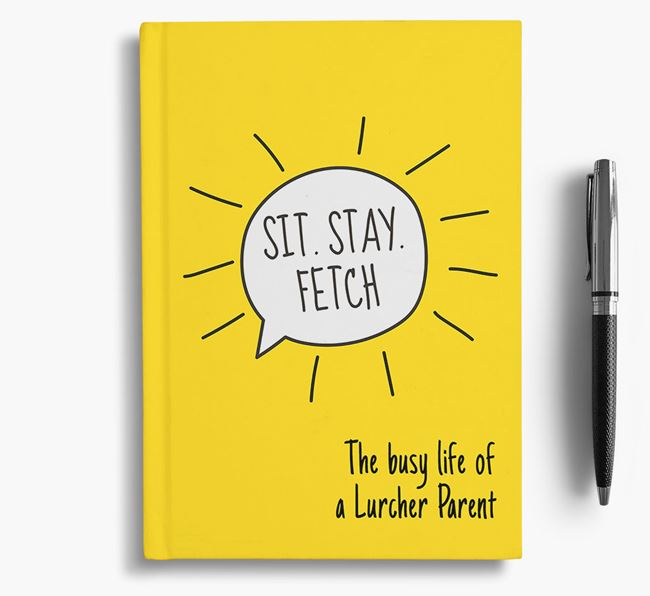 'The busy life of a Lurcher Parent' Personalized Notebook