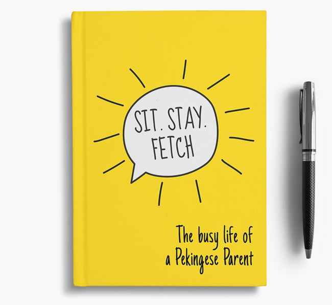 'The busy life of a Pekingese Parent' Personalized Notebook