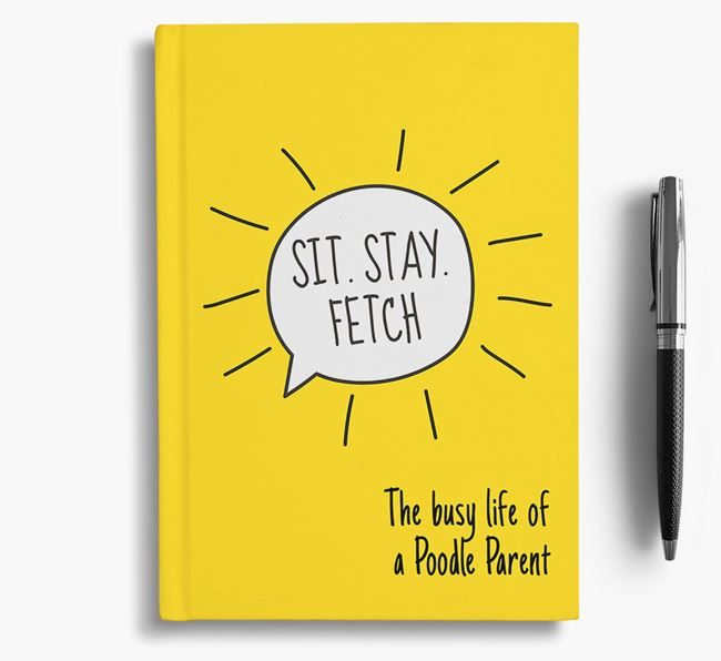 'The busy life of a Poodle Parent' Personalised Notebook