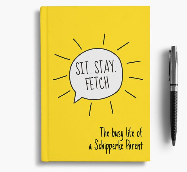 'The busy life of a Schipperke Parent' Personalised Notebook