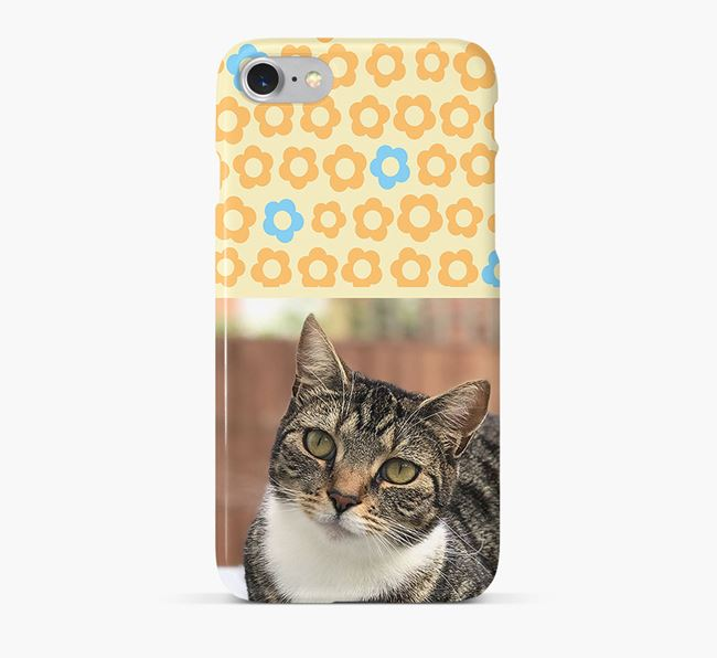 Flower Pattern Phone Case with photo of your Ashera