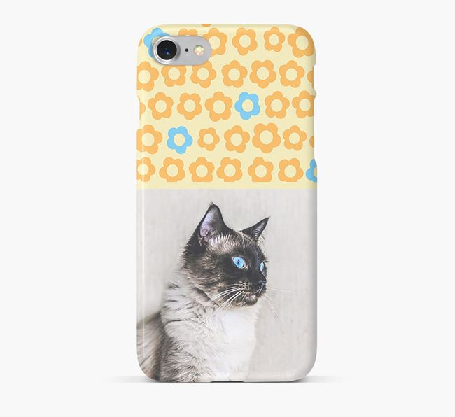 Flower Pattern Phone Case with photo of your Balinese