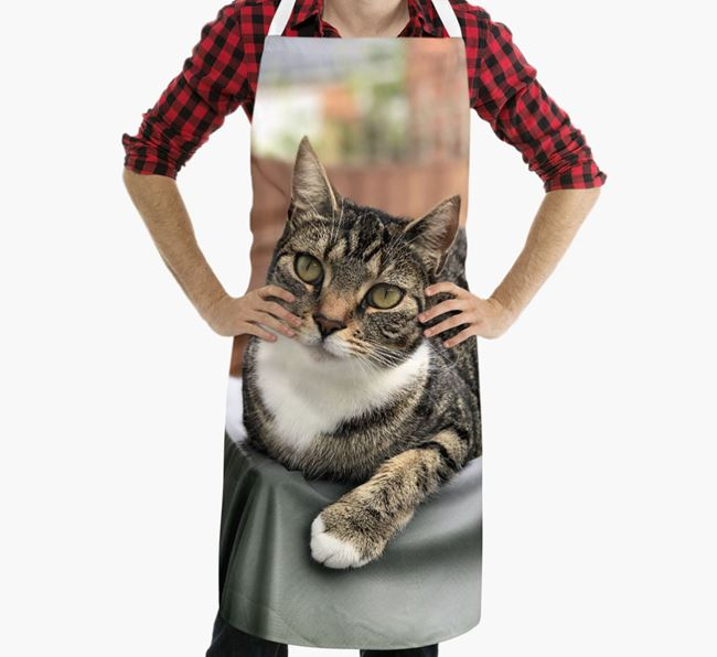 Personalized Apron with Photo of your Cat