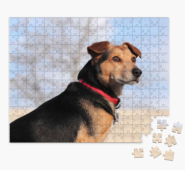 Photo Upload Jigsaw Puzzle - Personalized for your Flat-Coated Retriever