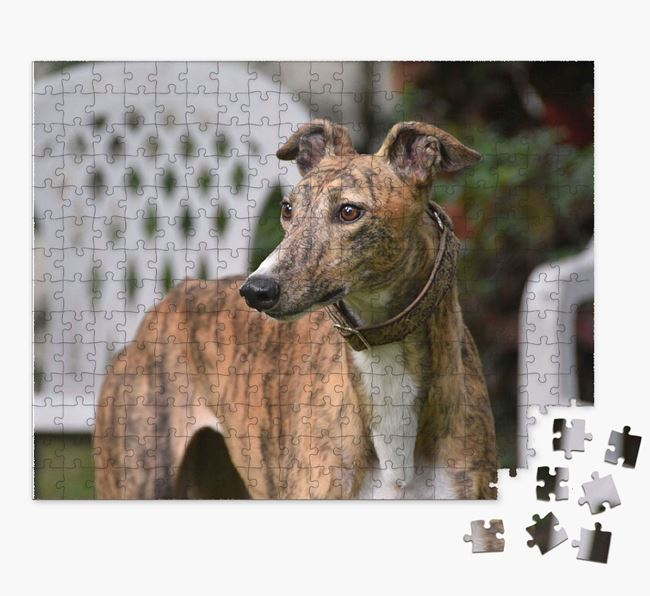 Photo Upload Jigsaw Puzzle - Personalized for your Greyhound