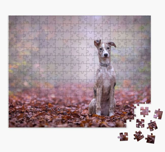 Photo Upload Jigsaw Puzzle - Personalized for your Lurcher