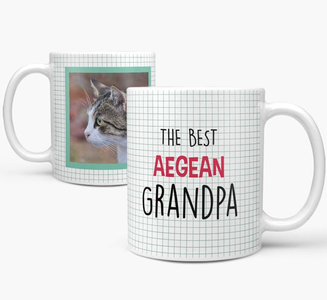 'Best Cat Grandpa' - Cat Photo Upload Mug