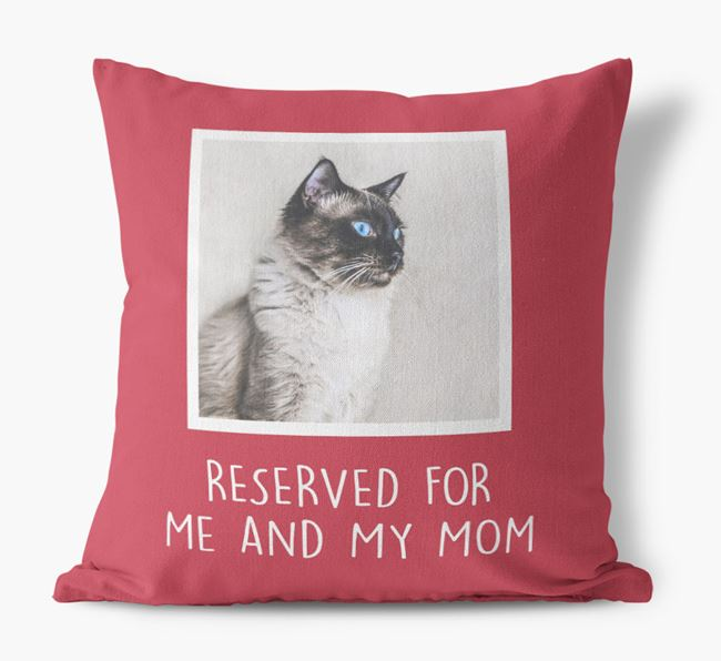 'Reserved for Me and My Mom' - Balinese Pillow