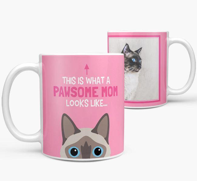 'Pawsome Mom' - Personalized Balinese Mug