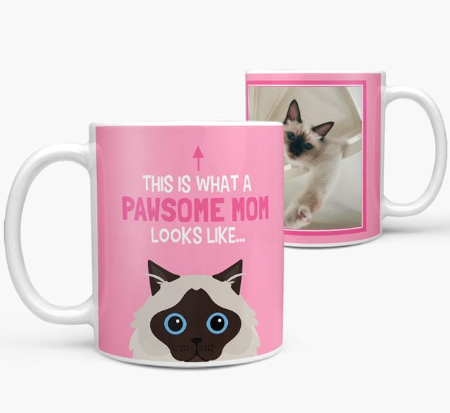 'Pawsome Mom' - Personalized Cat Mug