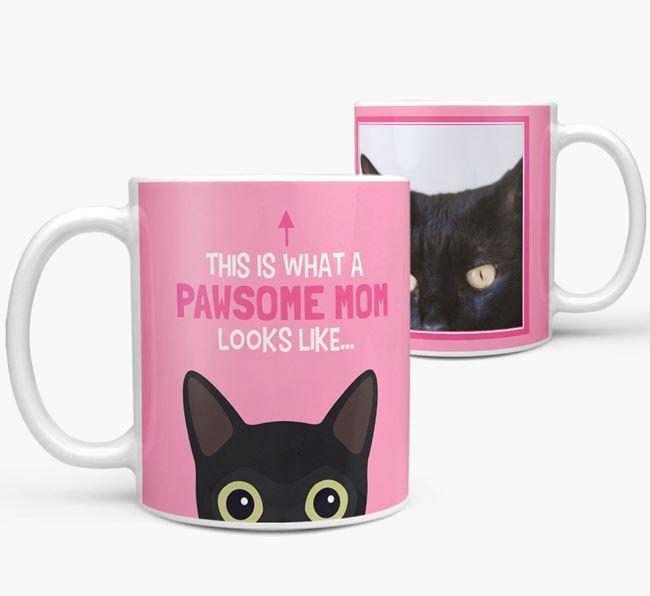 'Pawsome Mom' - Personalized Cat Mug