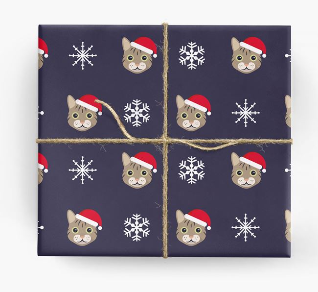 'Snowflake' - Personalised Cat Wrapping Paper