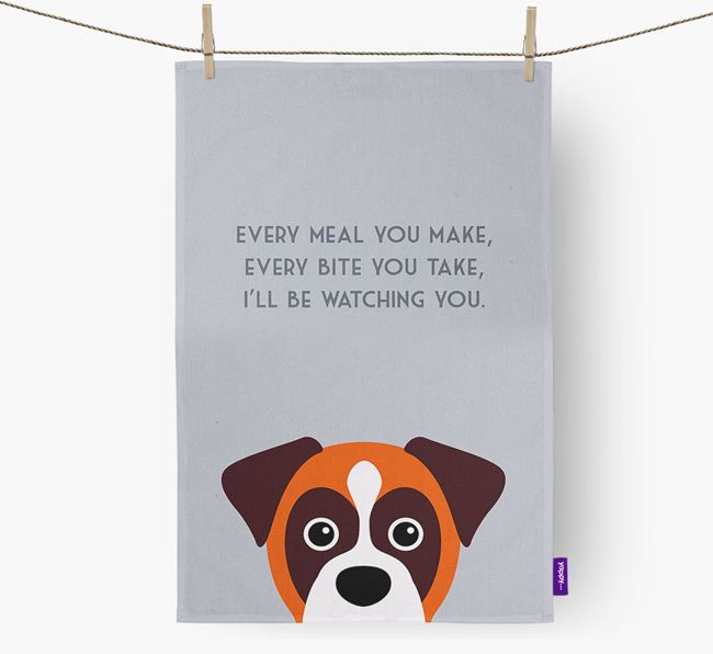 'I'll be watching you' Tea Towel