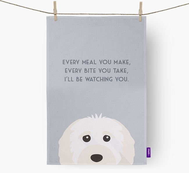 'I'll be watching you' Dish Towel