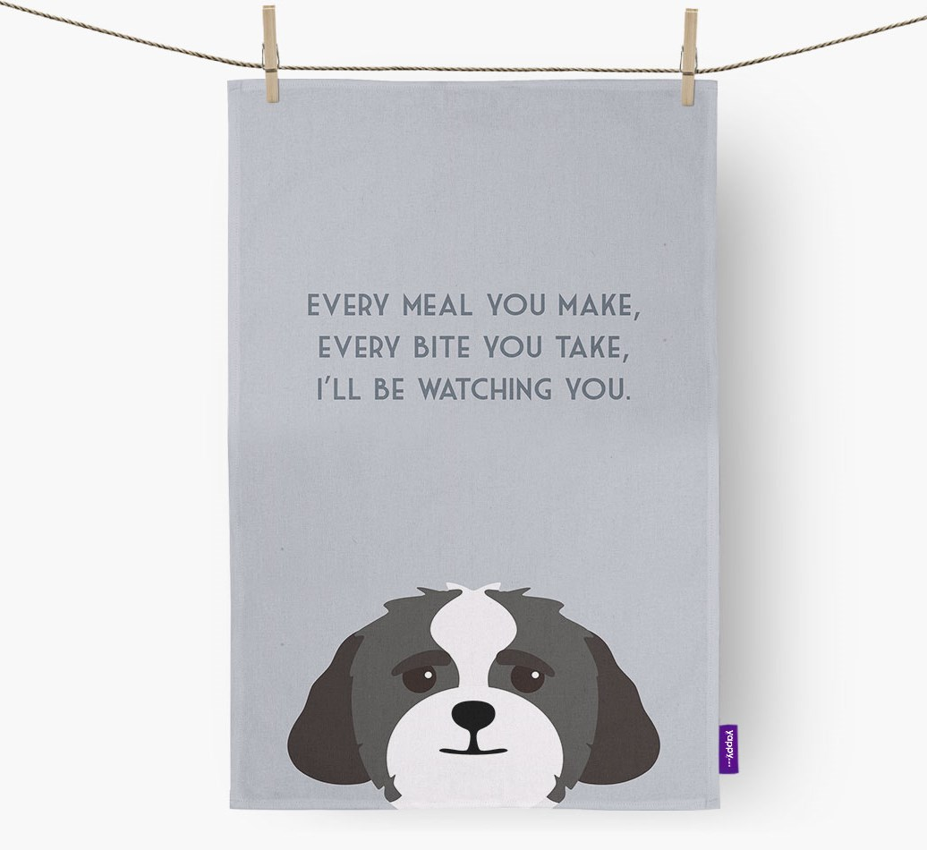 Lhasapoo 'I'll be watching you' Tea Towel